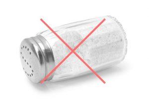 3. Reducerea aportul de sare